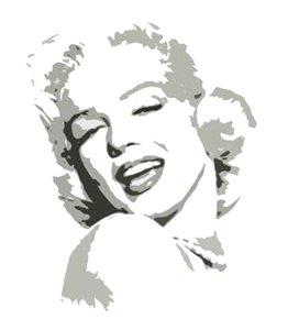 C08 Marilyn Monroe Grey Pop Art Painting on Canvas