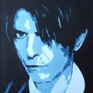 C19 David Bowie Pop Art Modern Painting on Canvas