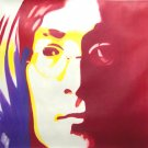 "C03 red blue JOHN LENNON Pop Art Oil Painting 30""30"