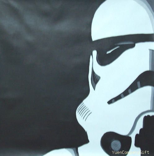 Star War Storm Trooper Pop art painting on Canvas C68