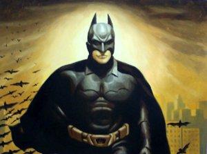"""Protrait Super Hero Batman Bats Oil Painting 12""""16...41"""