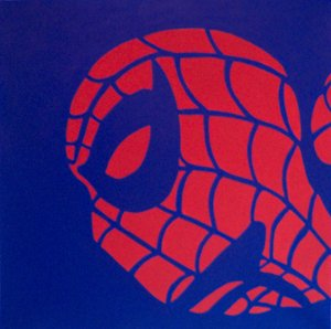 """SPIDERMAN In Blue Pop Art Painting 20""""20-- 073 Fee shipping to North America"""