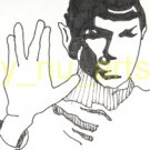 "c01 ACEO Star Trek's Spock Original Drawing 2.5 x3.5"" Free Shipping"