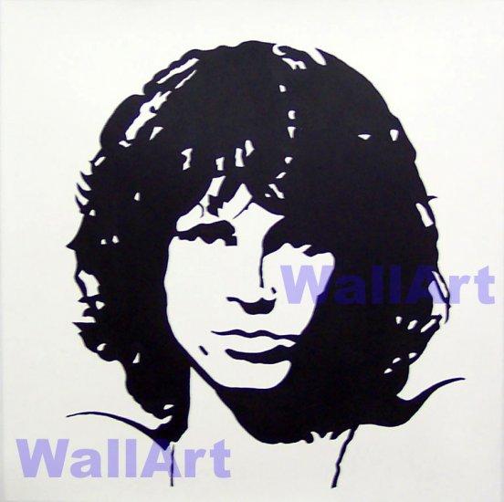 "jim morrison pop Art Modern Painting b n w 20""20 005"