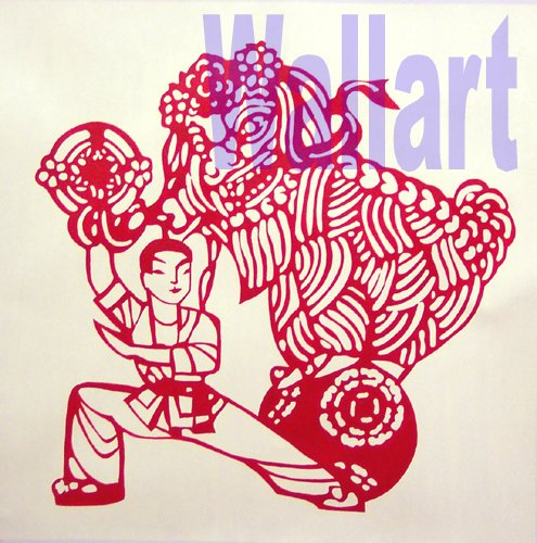 032 Chinese lion dance Modern art Painting on Canvas