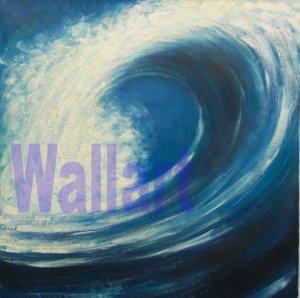 "036 sea waves beach blue Modern art Painting 20""20"