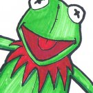 c51 Aceo Original pop art Sesame Street KERMIT THE FROG