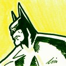 c43 ACEO Batman in action Pop Art Orgi Drawing