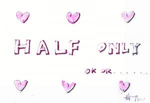 c37 Aceo Original Graffiti pop art Hand Drawing love Half Only
