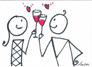 c63 Love Lover cheer Aceo Original pop art Hand Drawing