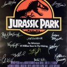 Signed JURASSIC PARK Movie Poster by 14 members of the Cast