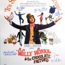 WILLY WONKA AND THE CHOCOLATE FACTORY MOVIE Poster by 7 members of the Cast