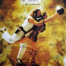 signed BIG LEBOWSKI MOVIE Poster by 16 members of the Cast
