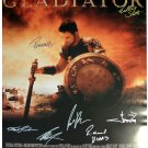 signed GLADIATOR MOVIE Poster by 7 members of the Cast