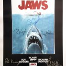 JAWS MOVIE Poster by 5 members of the Cast