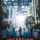 signed INCEPTION Movie Poster by 13 members of the Cast