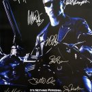 signed TERMINATOR 2 Movie Poster by 9 members of the Cast