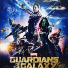 signed GUARDIANS OF THE GALAXY  Movie Poster by 14 members of the Cast