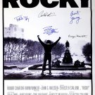 Signed ROCKY Movie Poster by 5 members of the Cast