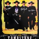 Signed TOMBSTONE Movie Poster by 17 members of the Cast