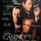 Signed CASINO Movie Poster by 13 members of the Cast