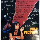 Signed PULP FICTION Movie Poster by 14 members of the Cast