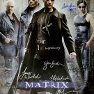 Signed THE MATRIX Movie Poster by 9 members of the Cast