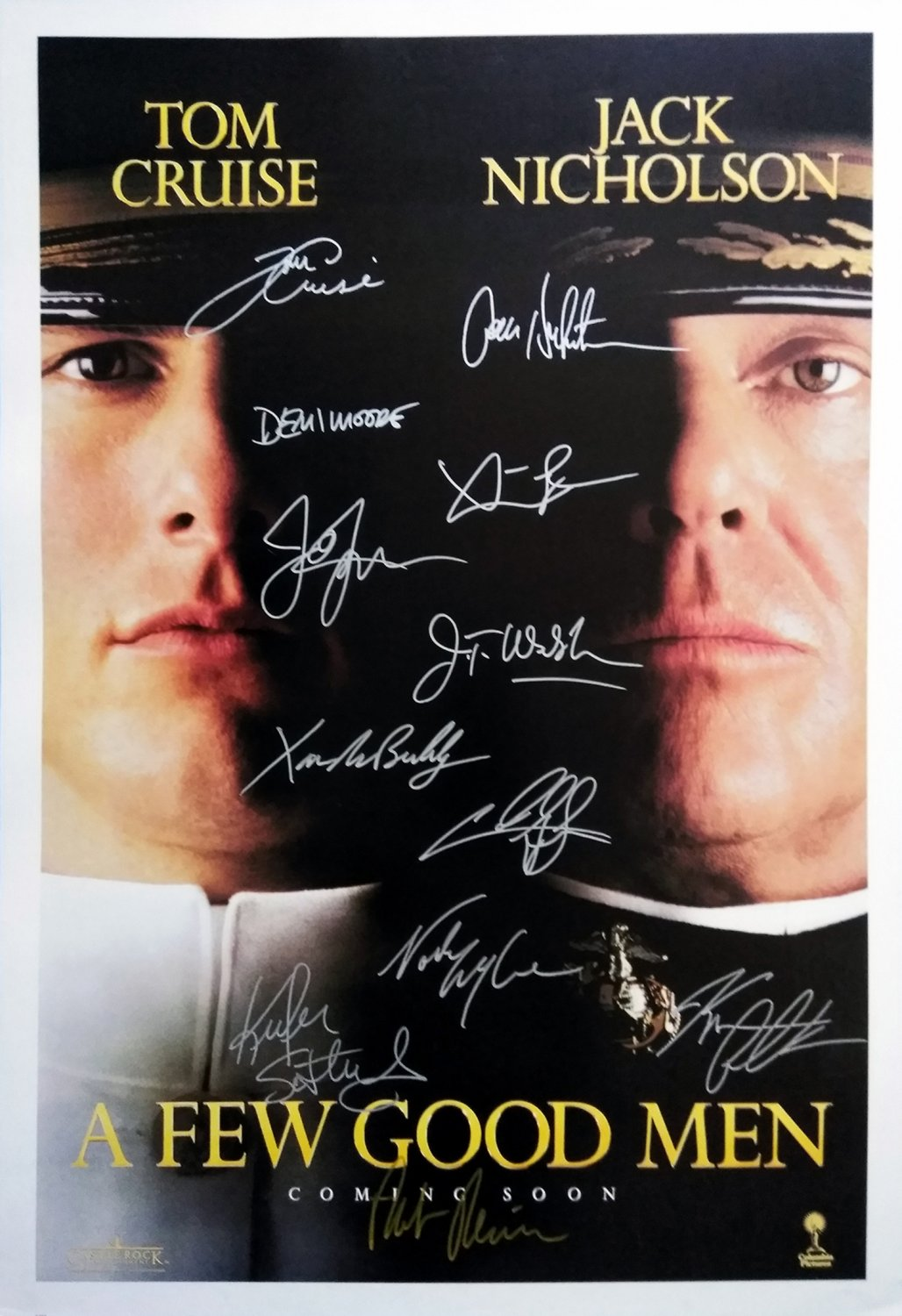 Signed A FEW GOOD MEN Movie Poster by 12 members of the Cast