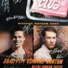 signed FIGHT CLUB Movie Poster by 6 members of the Cast