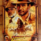 Signed INDIANA JONES THE LAST CRUSADE Movie Poster by 14 members of the Cast