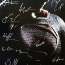 signed MAN OF STEEL Movie Poster by 16 members of the Cast