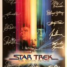 signed STAR TREK Movie Poster by 13 members of the Cast