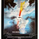 Signed SUPERMAN Movie Poster by 15 members of the Cast