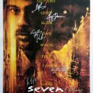 signed SEVEN MOVIE Poster by 7 members of the Cast