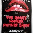 Signed THE ROCKY HORROR PICTURE SHOW Movie Poster by 9 members of the Cast