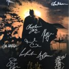 signed BATMAN BEGINS Movie Poster by 14 members of the Cast