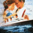 Signed TITANIC Movie Poster by 14 members of the Cast