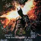 signed THE DARK KNIGHT RISES Movie Poster by 16 members of the Cast