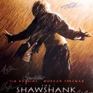 Signed THE SHAWSHANK REDEMPTION Movie Poster by 10 members of the Cast