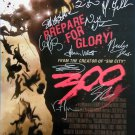 signed 300 MOVIE Poster by 11 members of the Cast