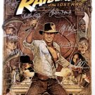 signed RAIDERS OF THE LOST ARK Movie Poster by 12 members of the Cast