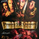 Signed PIRATES OF THE CARIBBEAN Movie Poster by 7 members of the Cast