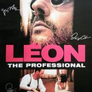 signed LEON THE PROFESSIONAL MOVIE Poster by 4 members of the Cast