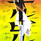 signed KILL BILL Movie Poster by 15 members of the Cast