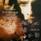 signed INTERVIEW WITH A VAMPIRE MOVIE Poster by 13 members of the Cast