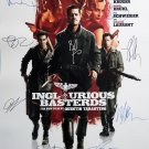 signed INGLORIOUS BASTERDS Movie Poster by 12 members of the Cast