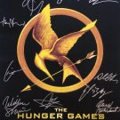 signed THE HUNGER GAMES MOVIE Poster by 12 members of the Cast