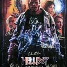 signed HELLBOY Movie Poster by 10 members of the Cast
