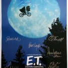 signed E.T. Movie Poster by 8 members of the Cast