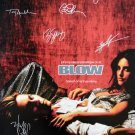 signed BLOW MOVIE Poster by 7 members of the Cast